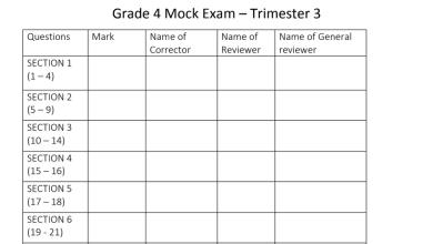Photo of نموذج امتحان علوم منهج إنجليزي للصف الرابع الفصل الثالث