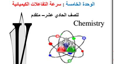 Photo of اسئلة مراجعة كيمياء غير محلولة سرعة التفاعلات الفصل الثاني مدرسة الصفا دبي