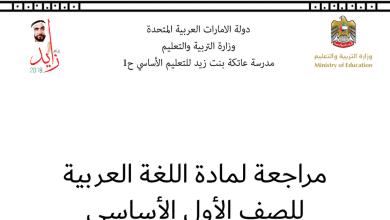 Photo of مراجعة لامتحان الكتابة في اللغة العربية للصف الاول الفصل الثالث