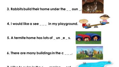 Photo of أوراق عمل كتابة الكلمة المفقودة لغة انجليزية صف ثالث فصل ثالث