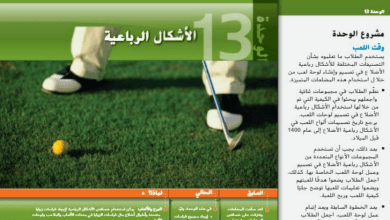 Photo of دليل المعلم الوحدة 13 رياضيات صف تاسع فصل ثالث