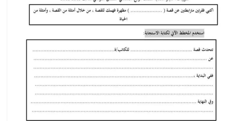 امتحان الكتابة لغة عربية الفصل الثالث مراجعات ونماذج لجميع الصفوف