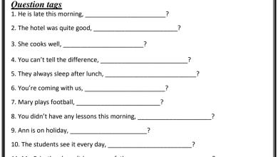 Photo of ورق عمل قواعد لغة إنجليزية صف خامس فصل ثالث
