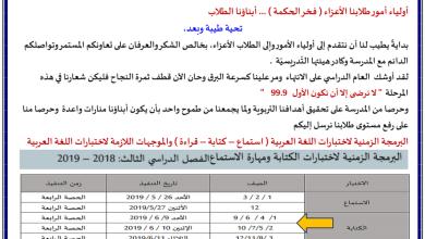 Photo of موجهات لامتحان الكتابة والقراءة لغة عربية