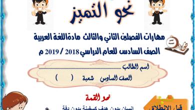 Photo of ملزمة شاملة مهارات قرائية و كتابية ونحوية لغة عربية صف سادس فصل ثالث
