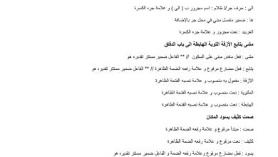 Photo of نماذج إعرابية لغة عربية صف ثاني عشر