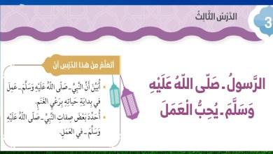 Photo of حل درس الرسول صلى الله عليه وسلم يحب العمل اسلامية ثاني