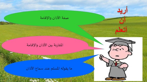 حل درس الاذان والإقامة