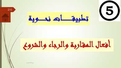 Photo of حل درس أفعال المقاربة والرجاء والشروع لغة عربية فصل أول صف ثاني عشر