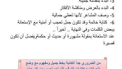Photo of قواعد في كتابة المواضيع مع مواضيع مختارة لغة عربية صف ثالث فصل أول