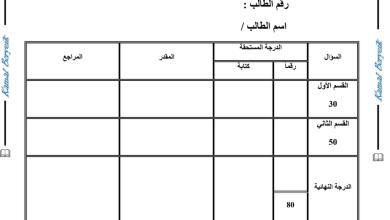 Photo of امتحان تجريبي لنهاية الفصل الأول كيمياء صف ثاني عشر متقدم 2019 – 2020 مع الإجابات