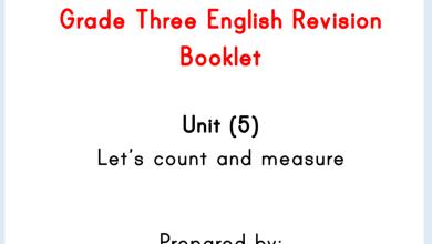 Photo of مذكرة الوحدة الخامسة لغة إنجليزية صف ثالث فصل ثاني