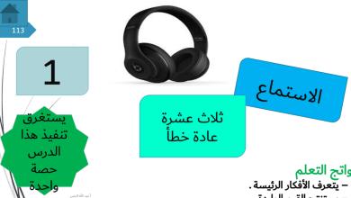 Photo of حل درس ثلاث عشرة عادة خطأ لغة عربية صف حادي عشر فصل ثاني