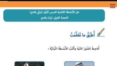 Photo of حل درس تراث بلادي دراسات اجتماعية ووطنية صف ثالث