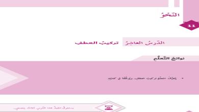 Photo of حل درس تركيب العطف لغة عربية صف سادس فصل ثاني