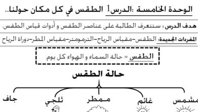 Photo of ملخص وحدة الطقس علوم صف أول فصل ثاني