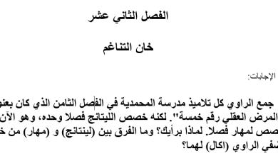 Photo of حل الفصل الثاني عشر خان التناغم رواية عساكر قوس قزح