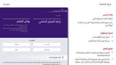 Photo of حل درس إدارة الصراع الداخلي تربية أخلاقية الفصل الثالث للصف الثامن
