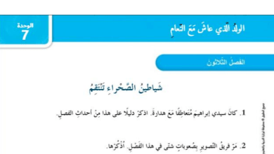 Photo of حل الفصل الثلاثون شياطين الصحراء تنتقم(الولد الذي عاش مع النعام )