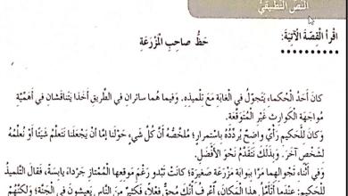 Photo of حل درس حظ صاحب المزرعة لغة عربية للصف الرابع