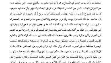 Photo of تلخيص الفصل الثاني والثلاثين كارثة رواية الولد الذي عاش مع النعام الصف السابع