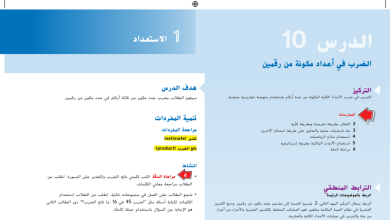 Photo of حل درس الضرب في أعداد مكونة من رقمين رياضيات صف خامس فصل أول