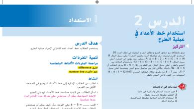 Photo of حل درس استخدام خط الأعداد في عملية الطرح رياضيات صف أول فصل أول