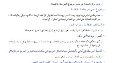 Photo of حل درس أحوال العرب قبل ظهور الإسلام دراسات اجتماعية صف سابع فصل أول
