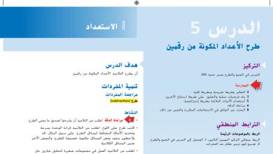Photo of حل درس طرح الأعداد المكونة من رقمين رياضيات صف ثاني فصل أول