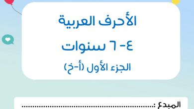 Photo of مذكرة الحروف من حرف أ – خ لغة عربية صف أول فصل أول