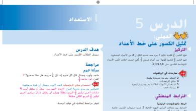 Photo of حل درس تمثيل الكسور على خط الأعداد رياضيات صف ثالث فصل ثاني