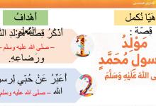 Photo of حل درس مولد الرسول تربية إسلامية صف أول فصل ثاني