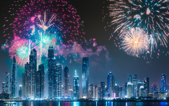 burj khalifa fireworks 2018