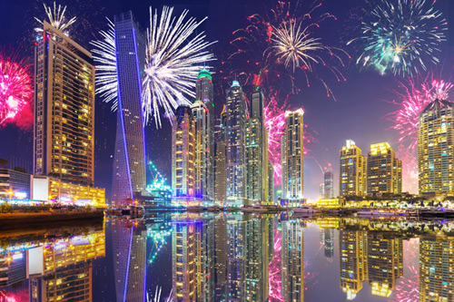 dubai festival city fireworks timings today