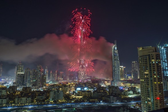 burj khalifa fireworks new year 2019