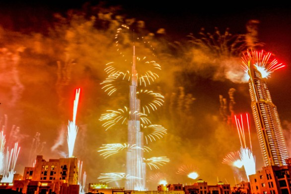 burj khalifa fireworks new year