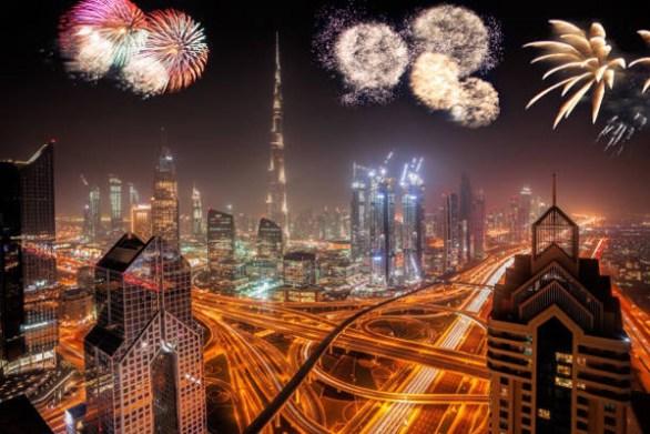 happy new year dubai fireworks images