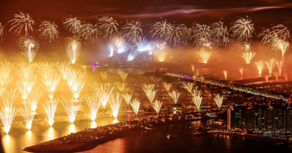 palm jumeirah new years eve fireworks