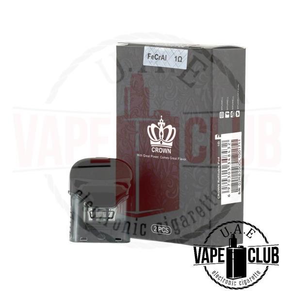 Buy Online Vape Kits,Uwell Crown Replacement Pods 2ps, Premium E-juice, Liquids, Pods, Vape Batteries,Chargers, Vape Tanks etc. in UAE from Uaevapeclub.com