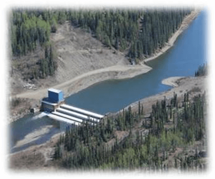 Photo of Mayo Yukon Dam, Photo credit: Yukon Energy