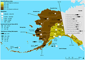 Ocean Acidification Vulnerability Index (OAVI) Map of Alaska