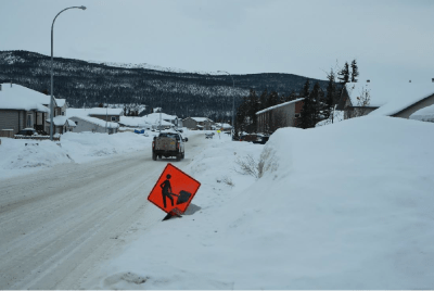 Photo of Street in Whitehorse, Yukon February, 2021, Photo credit: CBC