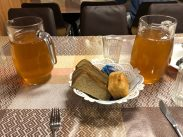 Kompot is always served during lunch and dinner and is very popular among the expedition members.