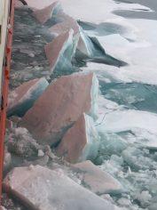 Breaking ice.
