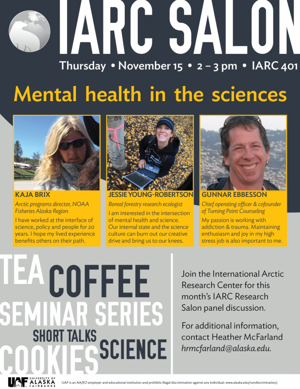 Iarc Salon Mental Health In The Sciences International Arctic