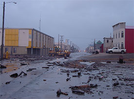 Nome experiences an unusually severe storm. (Photo: J. Steiger)