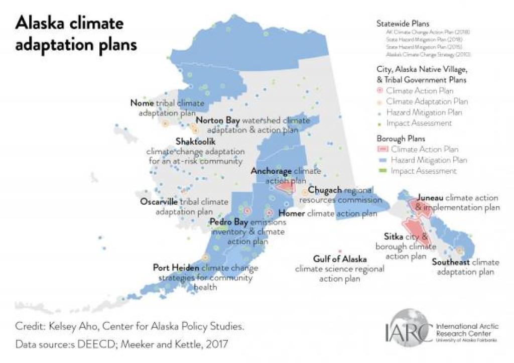 alaska climate adaptation plans map