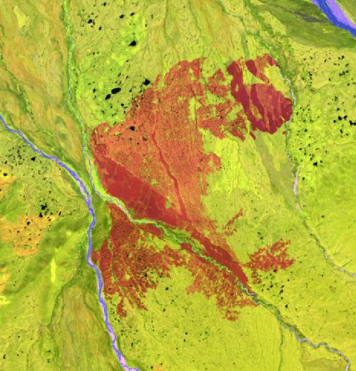 landsat image of alaska
