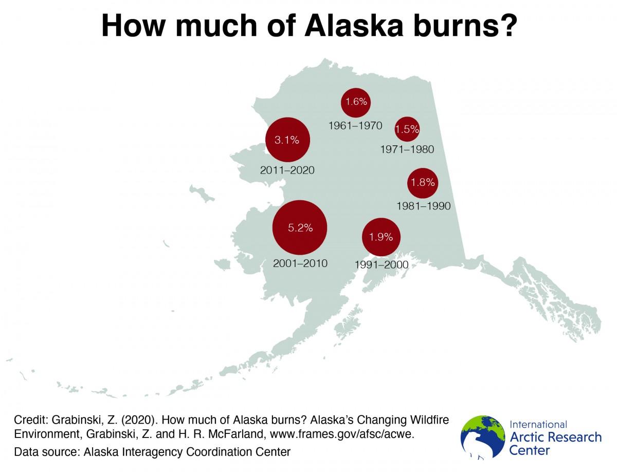 how much of alaska burns map