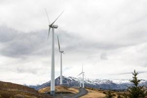 May 14, 2018 - Wind turbines in Kodiak, Alaska. (Photo by Dennis Schroeder / NREL)